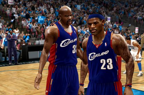 Shaq & LeBron in NBA Live 10