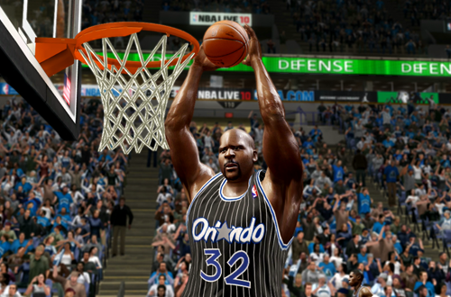 Shaquille O'Neal in his Rookie Jersey (NBA Live 10)