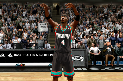 Stromile Swift Rookie Grizzlies Retro Jerseys (NBA Live 10)