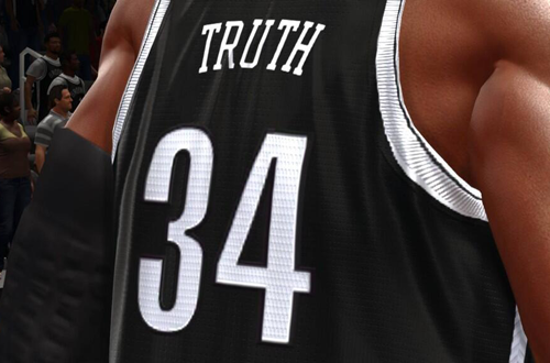 The Truth Jersey in NBA Live 14