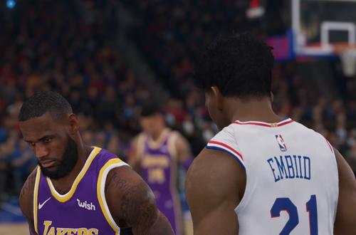LeBron James & Joel Embiid in NBA Live 19