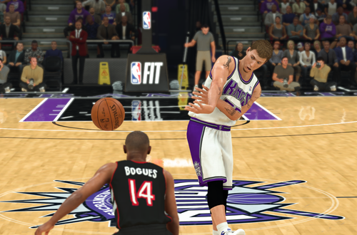 Jason Williams dishes against Muggsy Bogues (NBA 2K20)