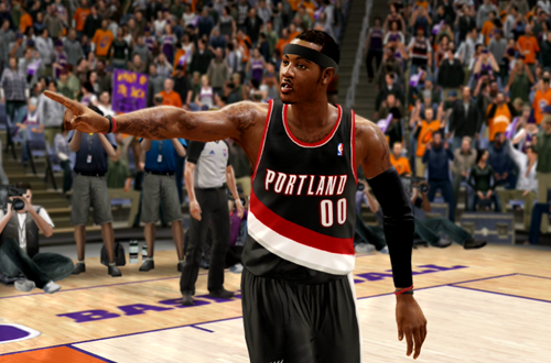 Active Players in NBA Live 10: Carmelo Anthony