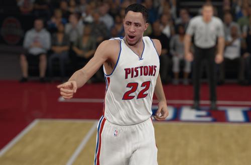 Tayshaun Prince back in Detroit (NBA 2K15)