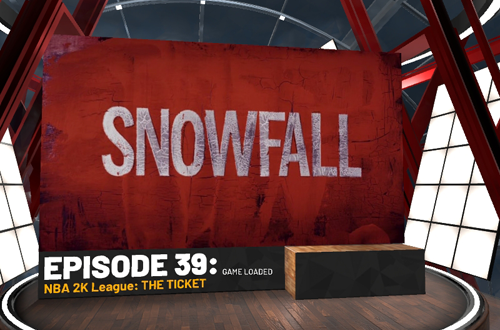 Unskippable Snowfall Ad in NBA 2K19
