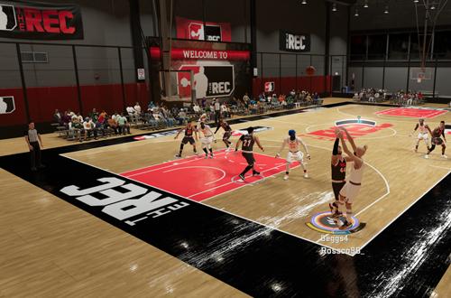 Contesting a shot in The Rec (NBA 2K21 Next Gen)