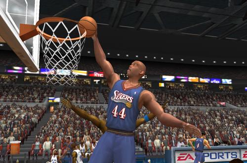 Derrick Coleman back in Philadelphia (NBA Live 2003)