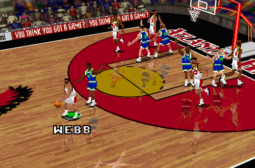 Spud Webb back in Atlanta (NBA Live 96)
