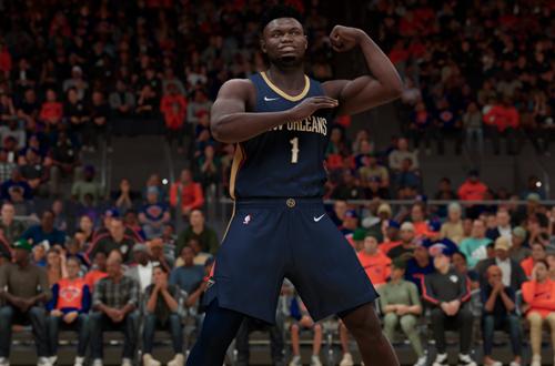 Zion Williamson Flexes in NBA 2K21