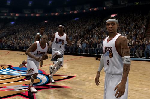 Philadelphia 76ers in NBA Live 07