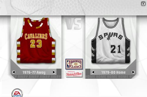 Retro Jerseys on Selection Screen (NBA Live 07)