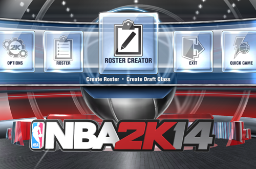 Roster Creator Options in NBA 2K14