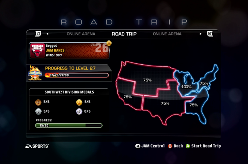 Mostly Finished Road Trip in NBA Jam: On Fire Edition